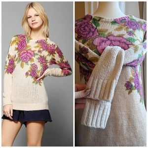 Pins & Needles x Urban Outfitters Rose Pop Sweater